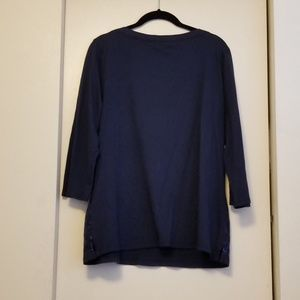 6a3e26a6 Tommy Hilfiger Tops - Tommy Hilfiger Women's Navy Top 3/4 Sleeves NWT B2